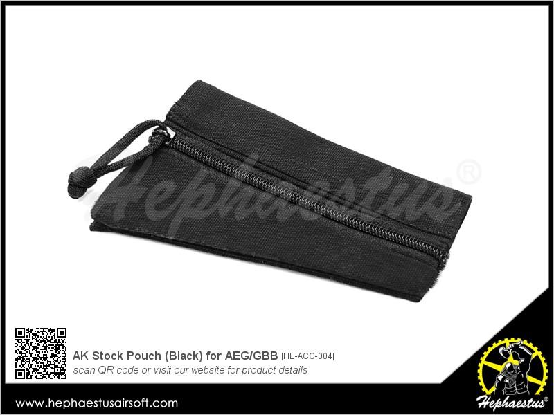 AK Stock Pouch (Black) for AEG/GBB | Hephaestus Airsoft
