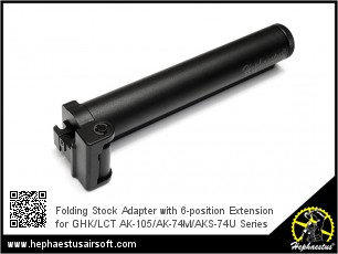 Folding Stock Adapter with 6-position Extension for GHK/LCT AK Series
