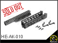 AK KeyMod Handguard (Black) for AEG/GBB