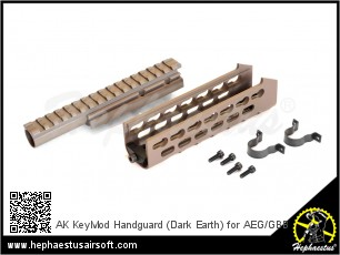 AK KeyMod Handguard (Dark Earth) for AEG/GBB