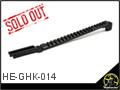 CNC Aluminum Top Rail for GHK/LCT AK Series
