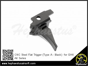 CNC Steel Flat Trigger (Type A - Black)  for GHK AK Series