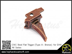 CNC Steel Trigger (Type A - Bronze)  for GHK AK Series