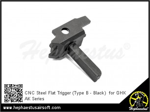 CNC Steel Trigger (Type B - Black)  for GHK AK Series
