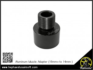 Aluminum Muzzle Adapter (16mm+ to 14mm-)