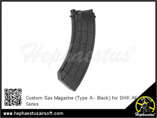 Custom Gas Magazine (Type A - Black) for GHK AK Series