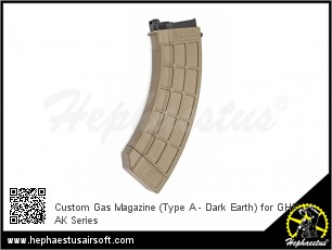 Custom Gas Magazine (Type A - Dark Earth) for GHK AK Series